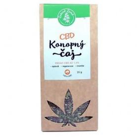 BIO konopný čaj sypaný s 1,6 percentným podielom liečivého CBD kanabidiolu v ekologickom balení