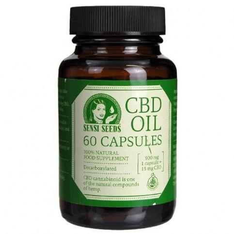 CBD kapsule v sklenenej fľaštičke