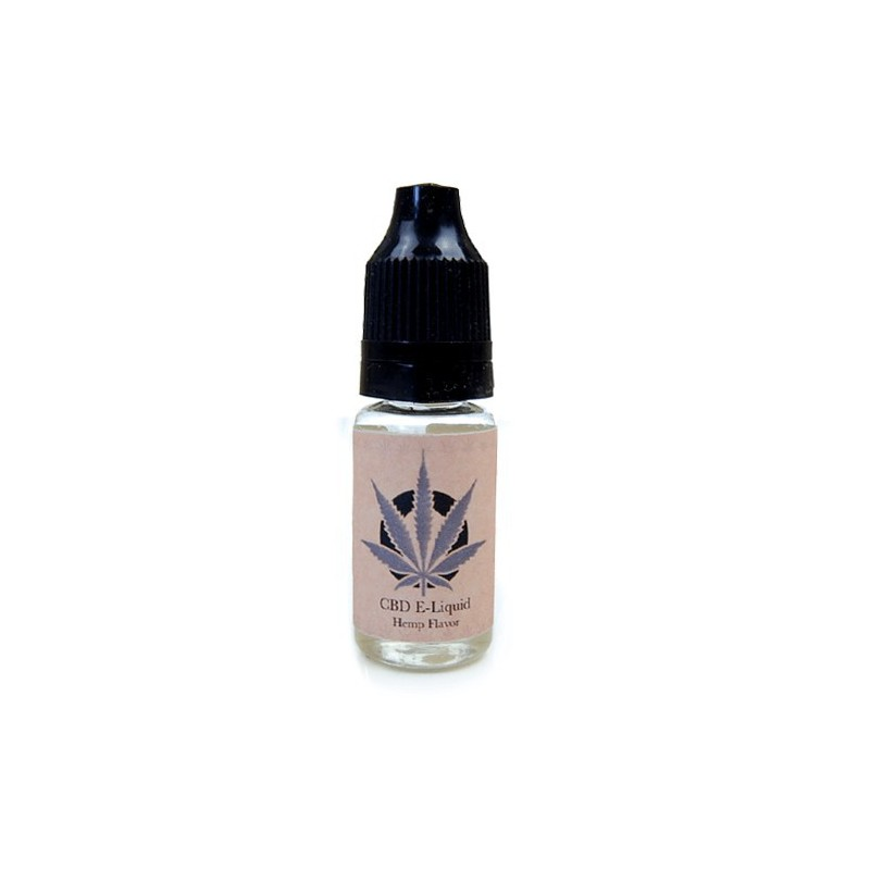 e-liquid s obsahom CBD v malej fľaštičke na bielom pozadí