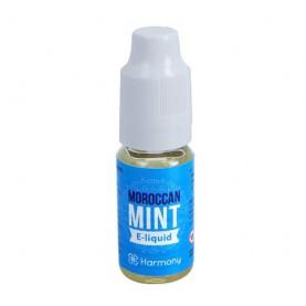 CBD e-liquid Harmony marocká mäta v malej fľaštičke na bielom pozadí