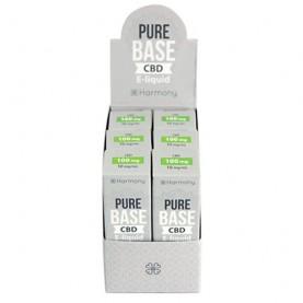 e-liquidy s obsahom CBD v sivej krabičke na bielom pozadí