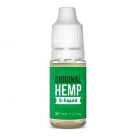 CBD e-liquid s vyšším obsahom CBD v malej fľaštičke na bielom pozadí