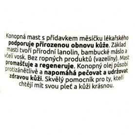 konopná masť s nechtíkom v originálnom balení - etiketa