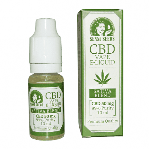 CBD e-liquid s 50 percentným obsahom CBD, 10 ml