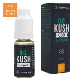 náplň do e-cigarety, e-liquid s obsahom CBD značky Harmony príchuť O.G. kush