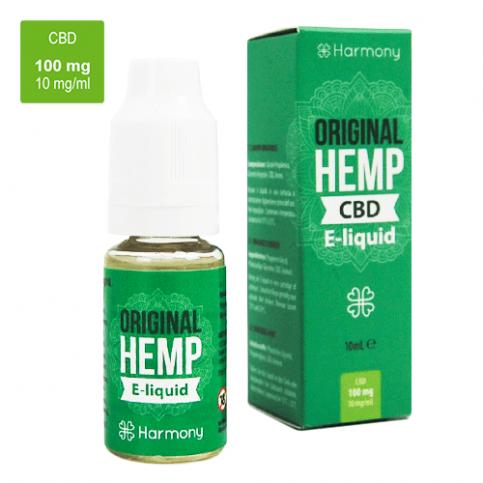 CBD e-liquid do elektronickej cigarety s obsahom CBD v zelenej krabičke