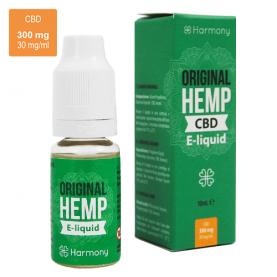 CBD e-liquid s vyšším obsahom CBD v malej zelenej krabičke na bielom pozadí