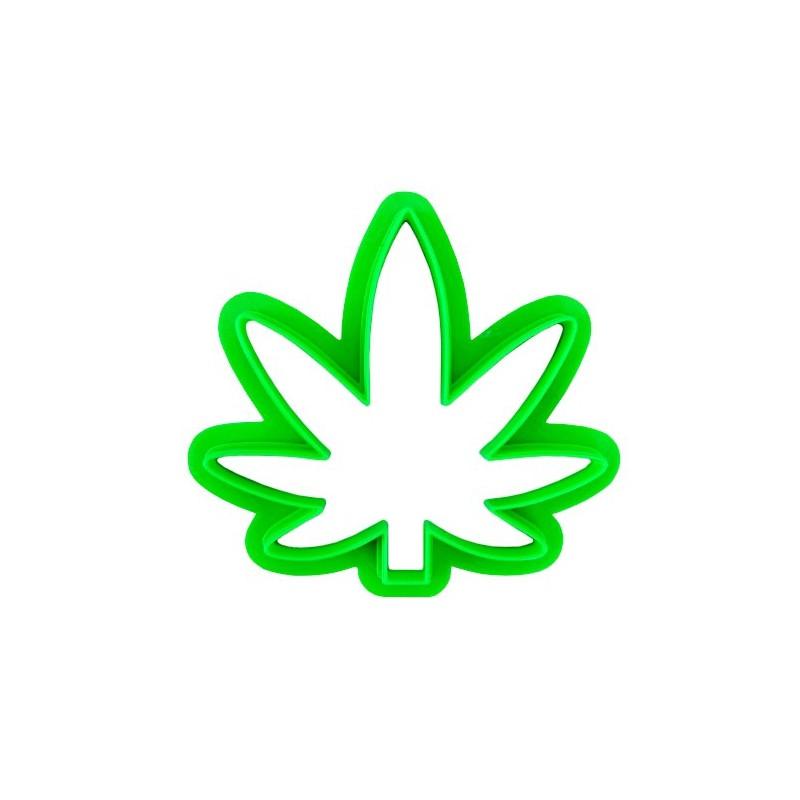 Formička vykrajovač na koláče a sušienky Cannabis Leaf (marihuanový list)