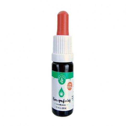 Konopný olej CBD 10% Zelená Země