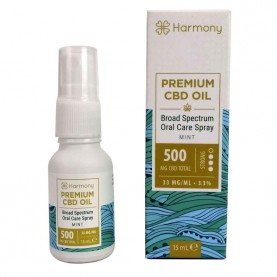 CBD Harmony 15ml spray Mint 500mg