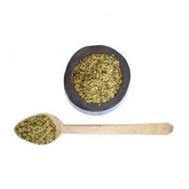 BIO konopné semienka na vyžici a v miske