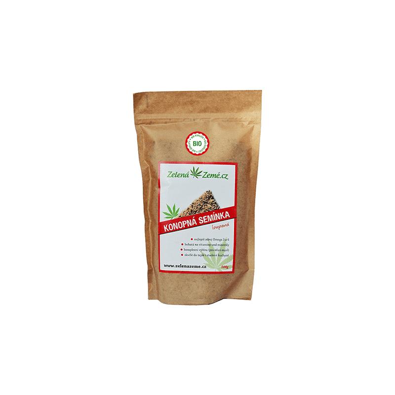 balenie konopných BIO semienok 150gramov