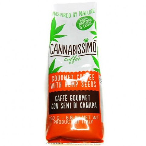 balenie konopnej kávy cannabissimo