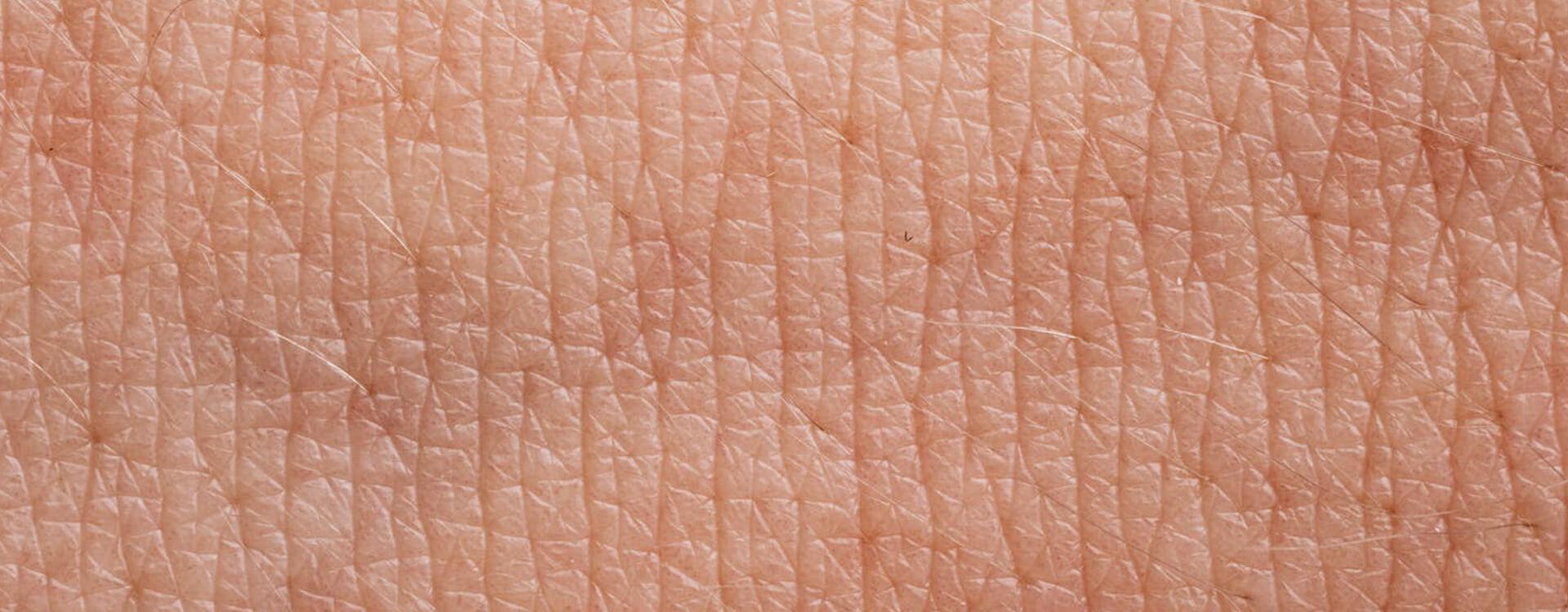 Štruktúra ľudskej pokožky - detailná fotografia